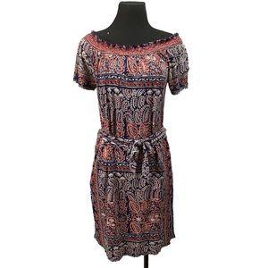 Lucky brand boho cold shoulder dress